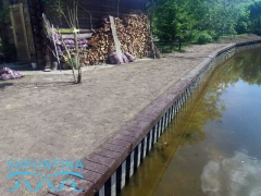 Берегоукрепление канала шпунт ПВХ Украина